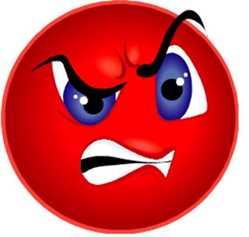 Angry Smiley Face - Facebook Symbols and Chat Emoticons - PNG Grumpy Face