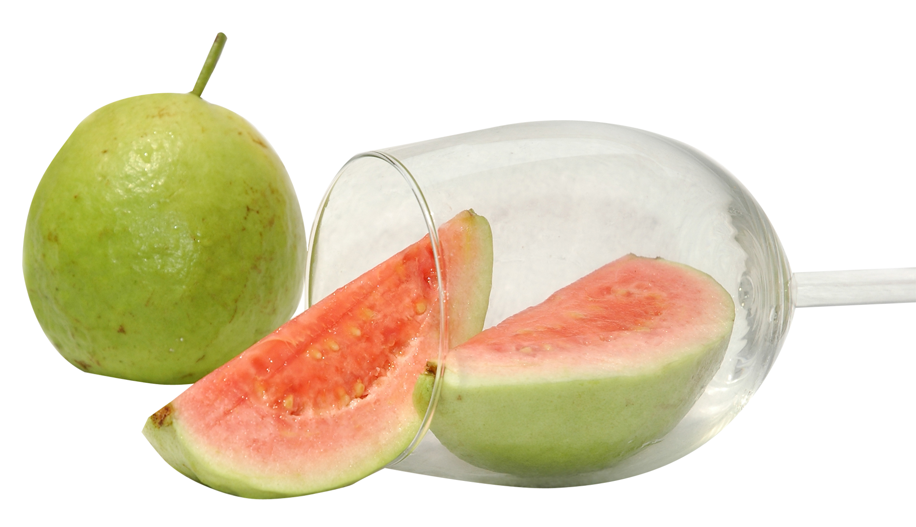 Resolution: 1866 x 1074 | Format: PNG | Keywords: Fruits, Glass, Guava - PNG Guava