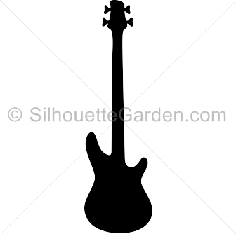 Bass Guitar Silhouette - PNG Guitar Silhouette