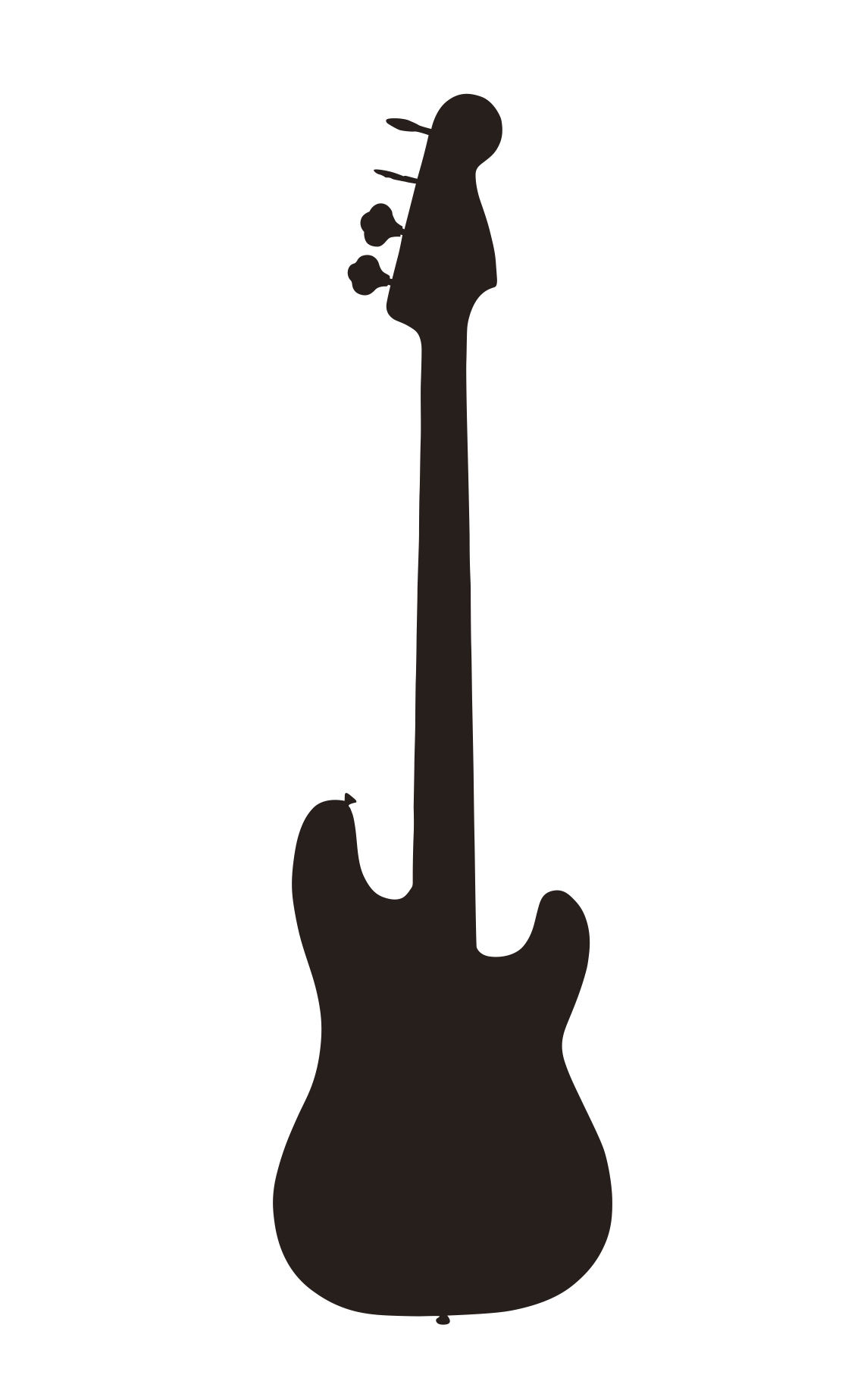PNG Guitar Silhouette