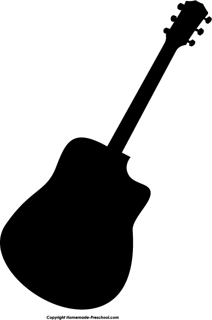 Free Silhouette Clipart - PNG Guitar Silhouette