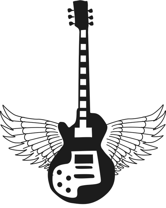 PNG Guitar Silhouette - 47451