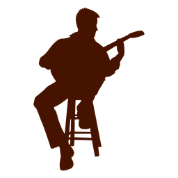 Musician music guitar silhouette - PNG Guitar Silhouette