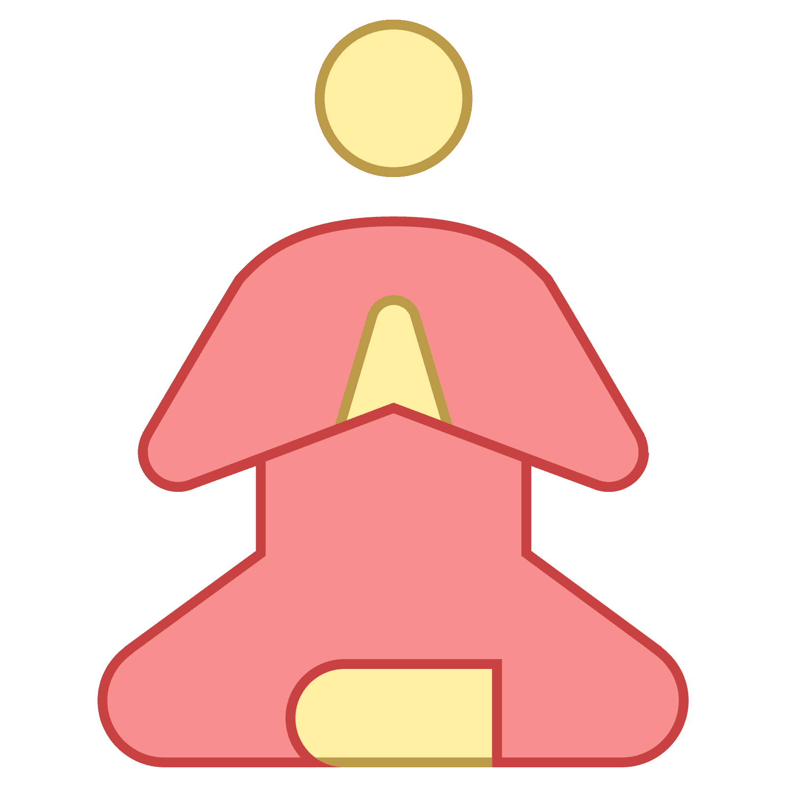 This is a picture of a person that looks to be meditating. This person is.  PNG 50 px - PNG Guru