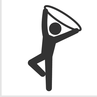 Athletics and Gymnastics Icon Set - Rhythmic Gymnastics . - PNG Gymnastics Black And White