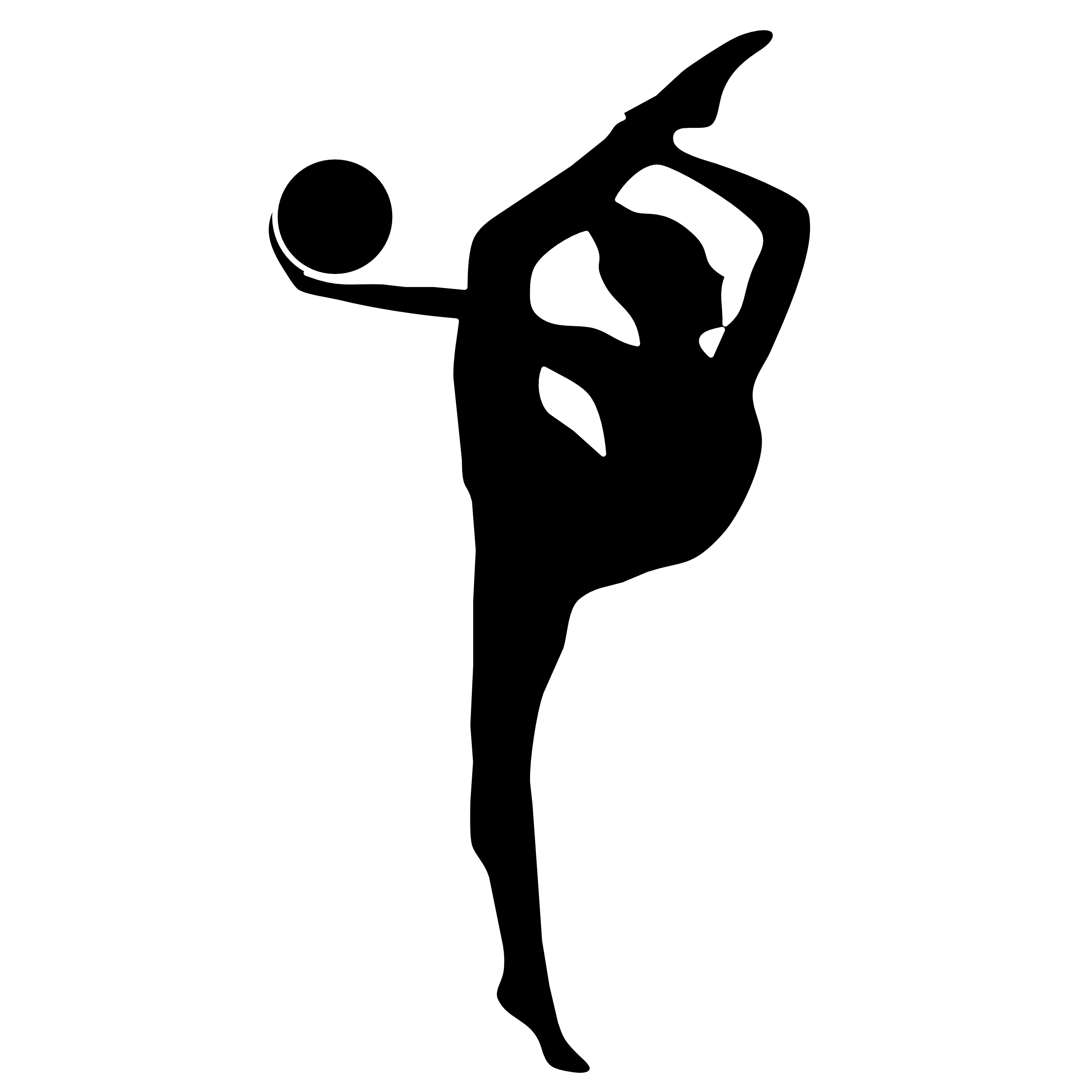 Gymnastics Clipart Silhouette Vault - PNG Gymnastics Black And White