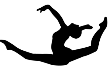 Gymnastics Silhouette Cliparts #2558864 - PNG Gymnastics Black And White