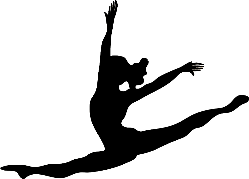 pin Box clipart gymnastics #8 - PNG Gymnastics Black And White