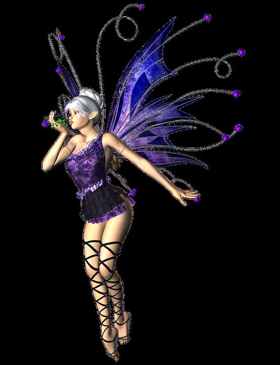 niña mujer de hadas elf alas 3d png - PNG Hadas Gratis