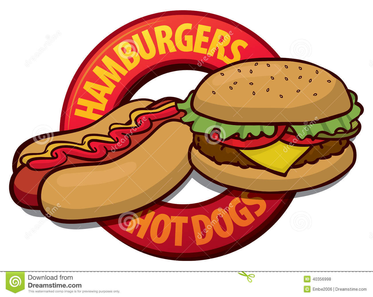 Hamburger Hot Dog Clip Art - PNG Hamburgers Hot Dogs