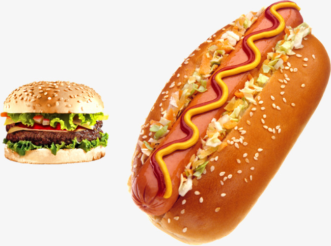 Hamburgers and hot dogs, Hamburger, Hot Dog, Sausage Free PNG Image - PNG Hamburgers Hot Dogs
