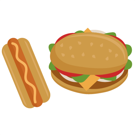 Hot Dogs And Hamburger Clipart - PNG Hamburgers Hot Dogs