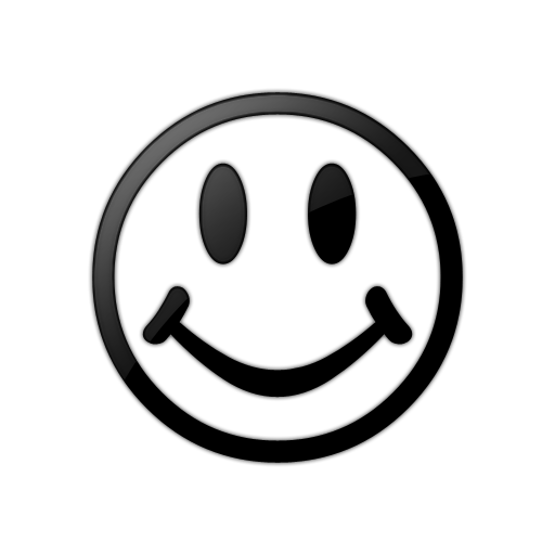 PNG Happy Face Black And White - 47720