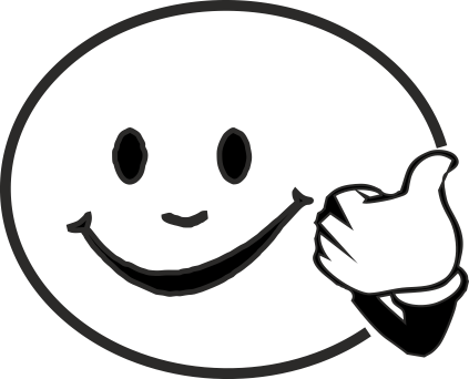 Black And White Smiley Face #10744 - PNG Happy Face Black And White