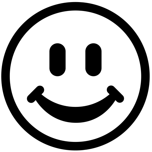 PNG Happy Face Black And White - 47721