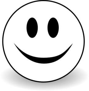smiley face star clipart black and white - PNG Happy Face Black And White