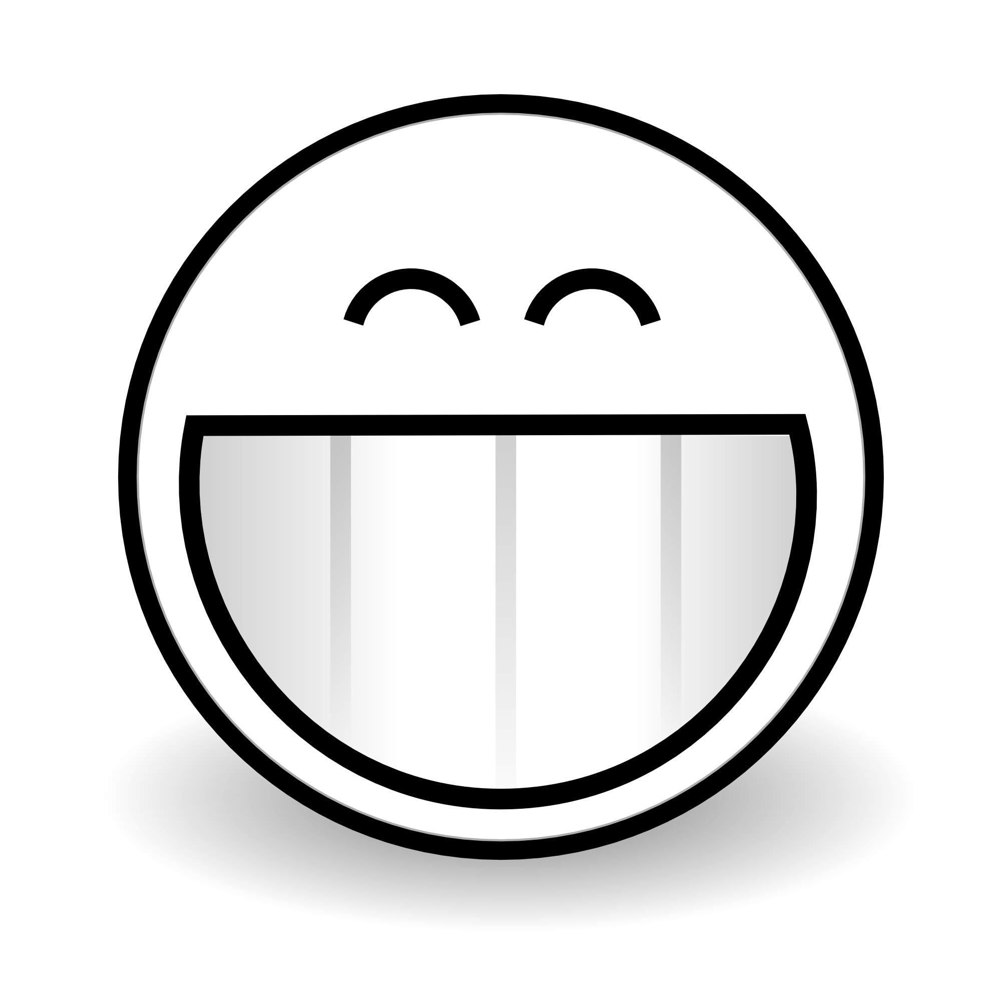 PNG Happy Face Black And White - 47733