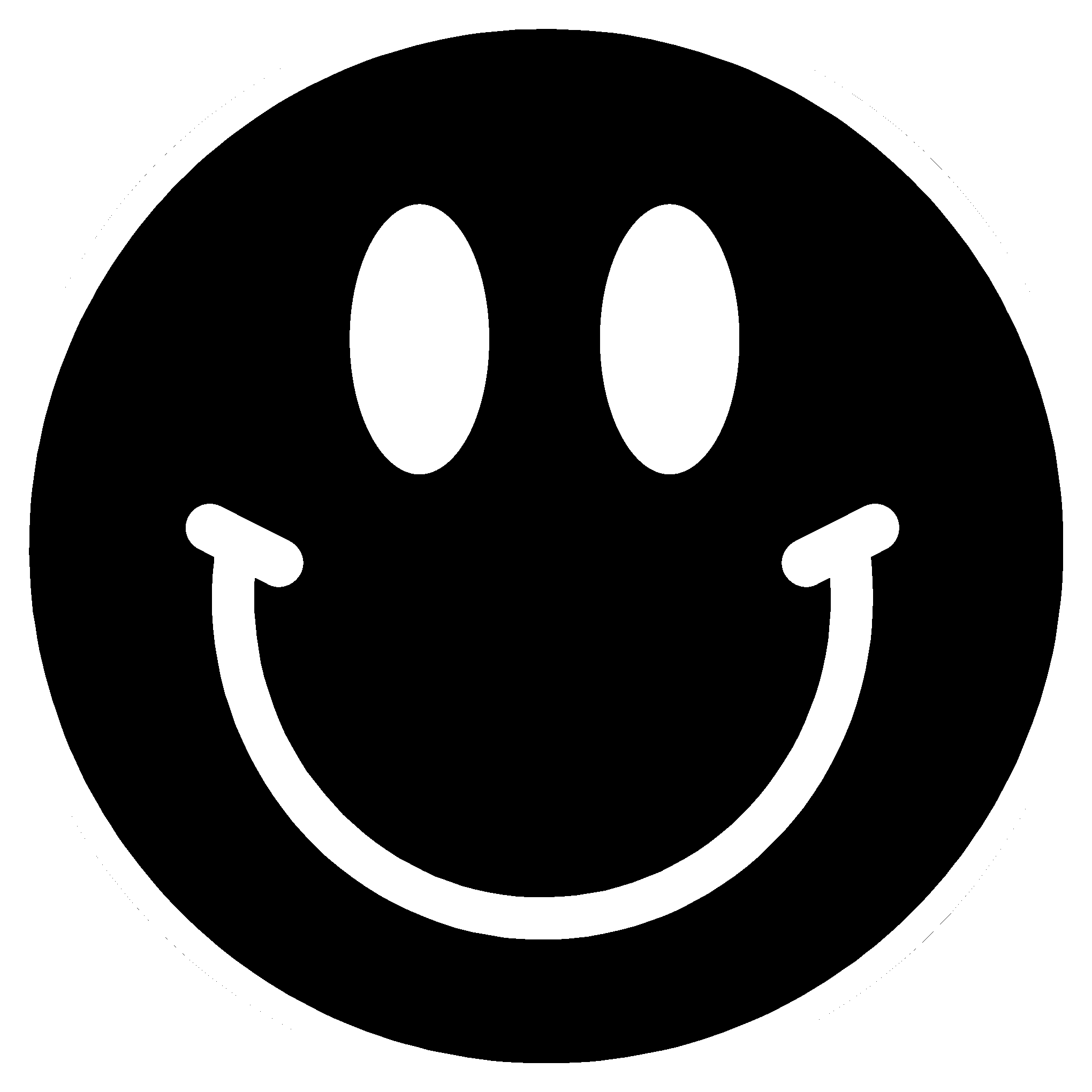 PNG Happy Face Black And White - 47727