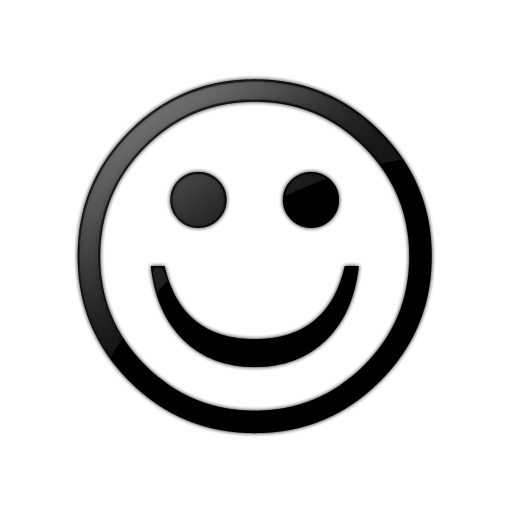 PNG Happy Face Black And White - 47719