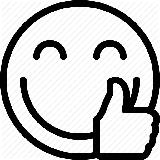 Smiley face thumbs up clipart black and white clipartsgram - PNG Happy Face Black And White