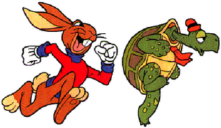 PNG Hare And Tortoise - 65777