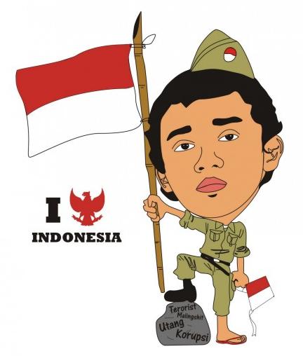 Carikatur I Love Indonesia PlusPng.com  - PNG Hari Kemerdekaan Indonesia