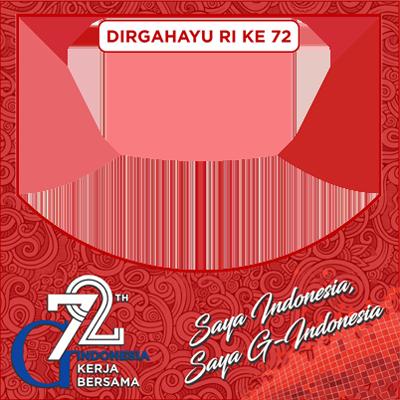 Hari Kemerdekaan RI Ke-72 Tahun Bersama G-Indonesia - PNG Hari Kemerdekaan Indonesia