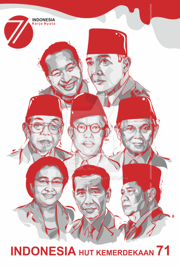 HUT KEMERDEKAAN INDONESIA KE - 71 By Obiyshinichiart PlusPng.com  - PNG Hari Kemerdekaan Indonesia