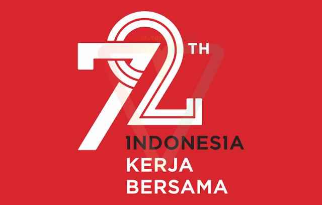 Logo HUT RI 72 Kemerdekaan Indonesia Sekunder | Vector (CDR/AI/EPS/SVG/PNG/JPG)  | VOLUVO - PNG Hari Kemerdekaan Indonesia