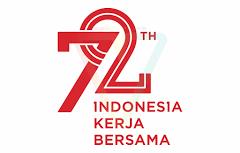 Logo HUT RI 72 Kemerdekaan Indonesia (Tersier Merah) PlusPng.com  - PNG Hari Kemerdekaan Indonesia