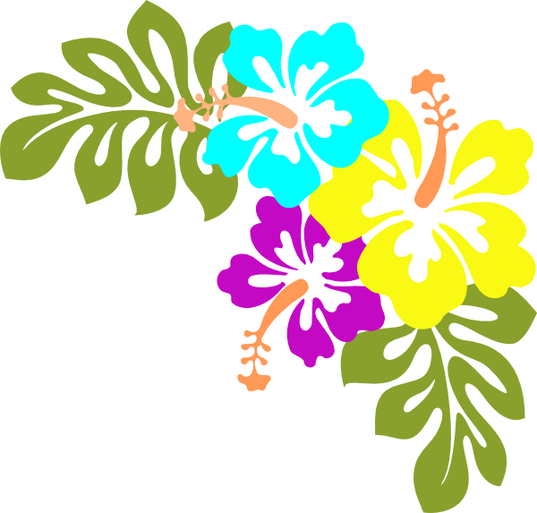 Hawaiian Flower Clip Art - PNG Hawaiian Flower