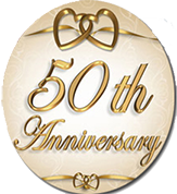 50th 2 - PNG HD 50Th Wedding Anniversary