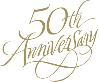 50th Anniversary Clip Art .. - PNG HD 50Th Wedding Anniversary