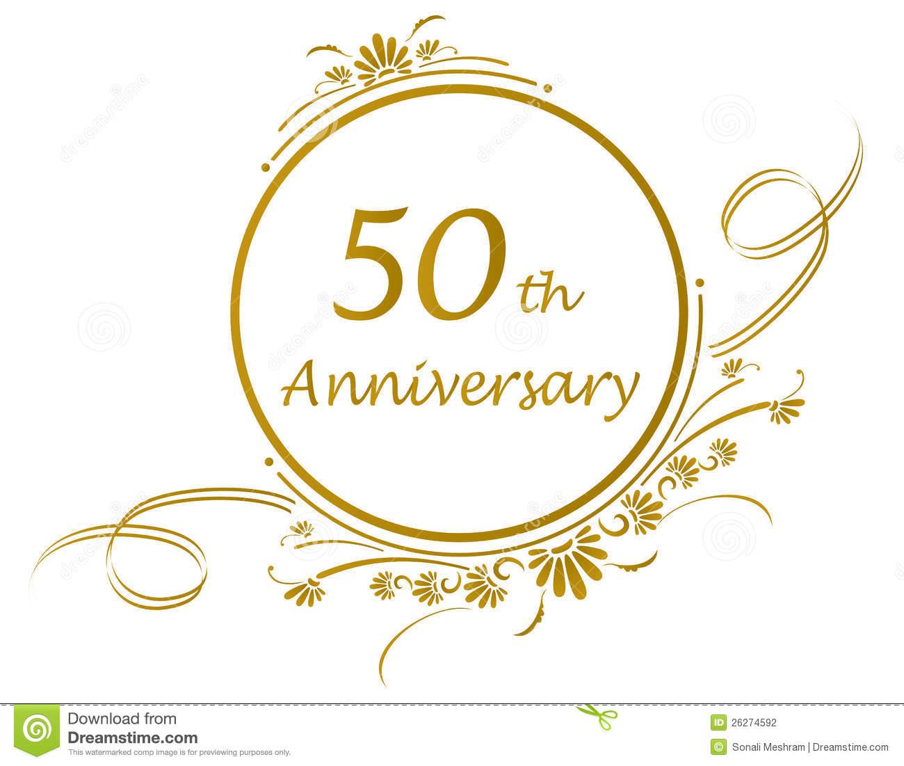Golden 50th Wedding Anniversary Icons - PNG HD 50Th Wedding Anniversary