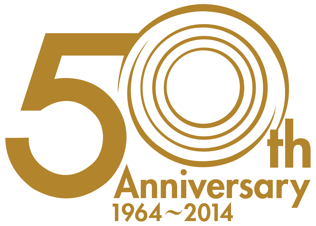 Golden clipart 50th #9 - PNG HD 50Th Wedding Anniversary