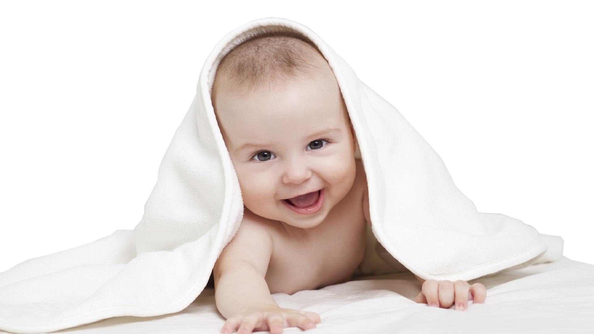 Baby White Background Image