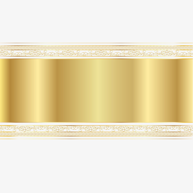 Vector Gold banner, Hd, Vector, Joyous PNG and Vector - PNG HD Banner