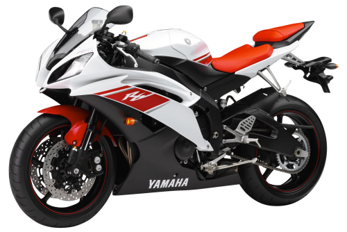 White Yamaha YZF R6 Sport Motorcycle Bike PNG Image - PNG HD Bike
