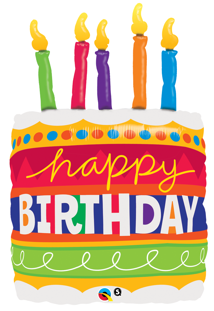 PNG HD Birthday Cake And Balloons-PlusPNG.com-739 - PNG HD Birthday Cake And Balloons
