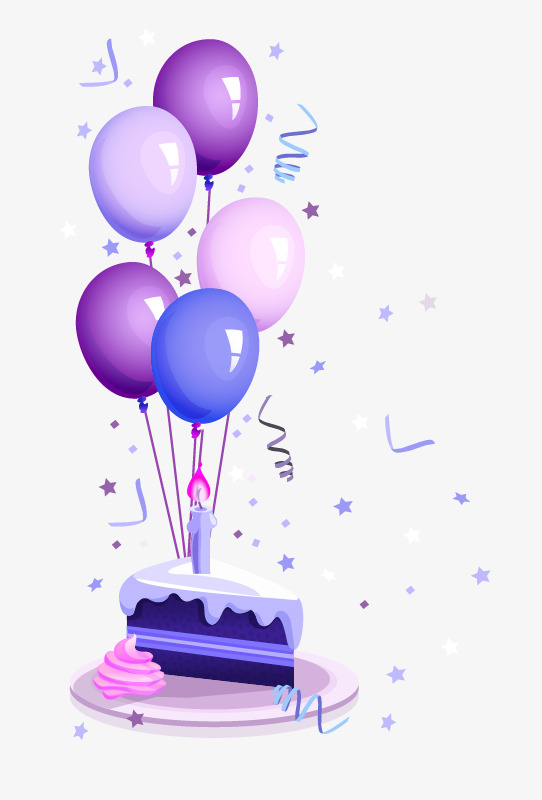 Birthday Cake, Birthday, Cake, Balloon Free PNG Image - PNG HD Birthday Cake And Balloons