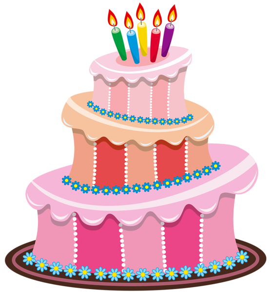 Cute Birthday Cake Clipart | Gallery Free Clipart Pictureu2026 Cakes PNG Pink Birthday  Cake P - PNG HD Birthday Cake And Balloons