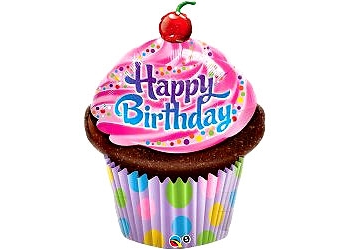 Enlarge - PNG HD Birthday Cake And Balloons