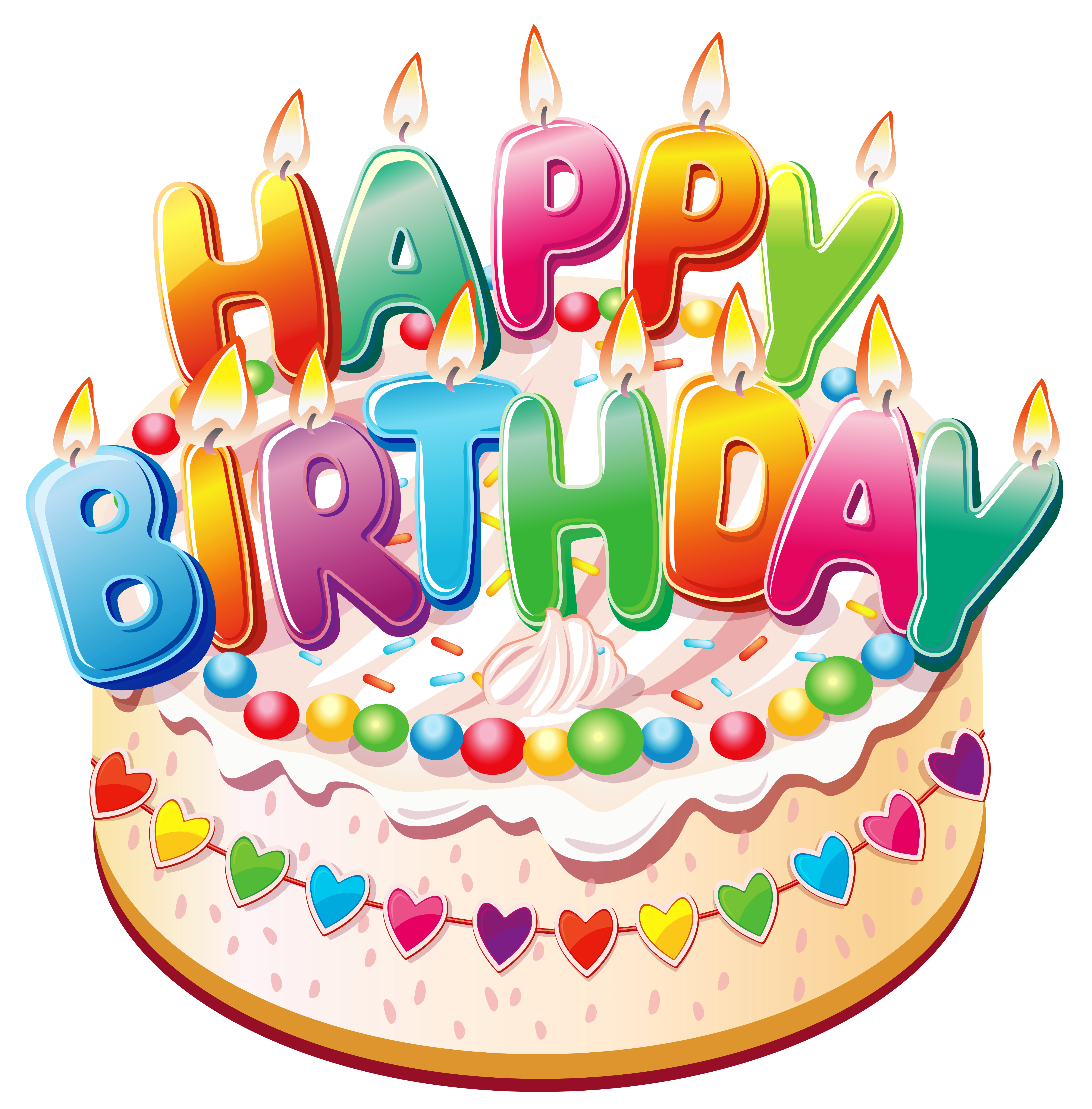 Happy BirthdayCake PNG Clipart Picture - PNG HD Birthday Cake And Balloons