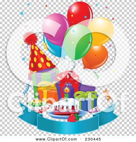 Rasters .jpg .png - PNG HD Birthday Cake And Balloons