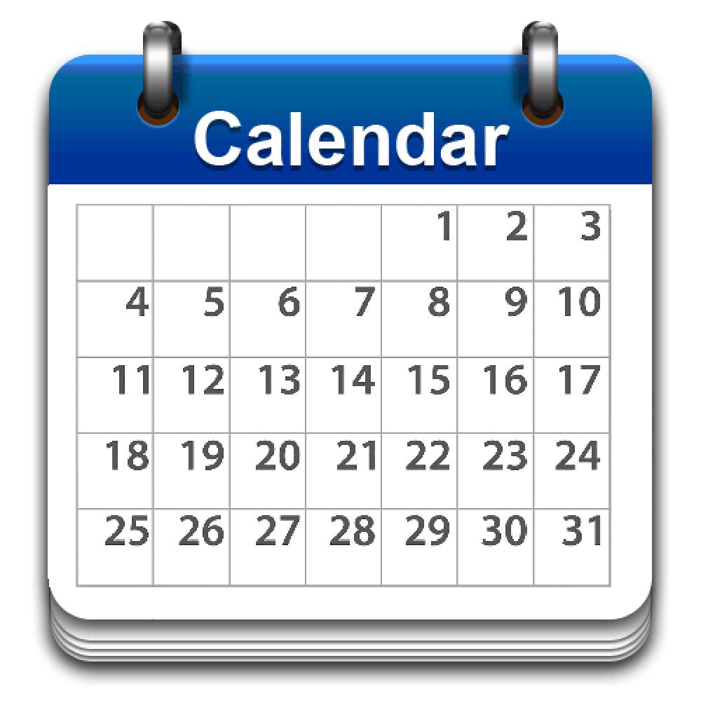 PNG HD Calendar - 125182