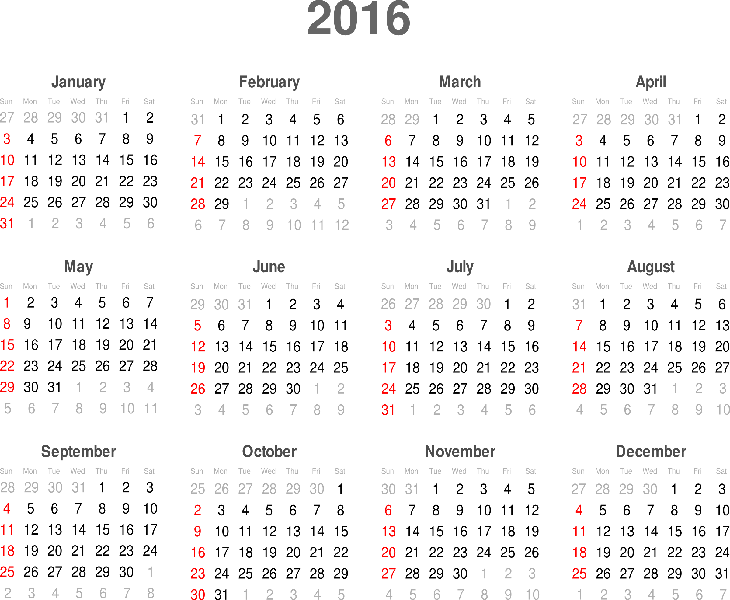 PNG HD Calendar - 125184