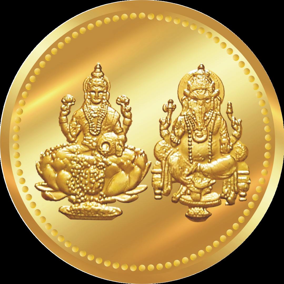 Lakshmi Gold Coin PNG Transparent Image - PNG HD Coins
