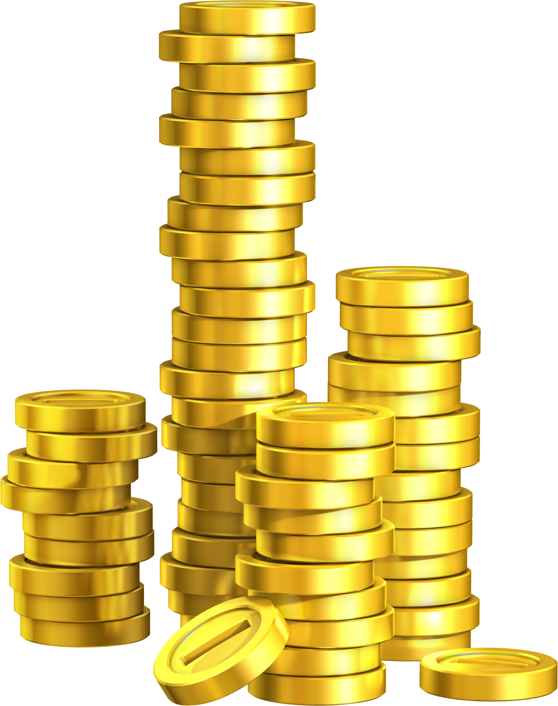 Trends For Stack Of Gold Coins Png - PNG HD Coins