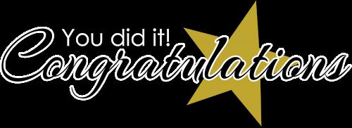 Congratulations Images Free Download - PNG HD Congratulations