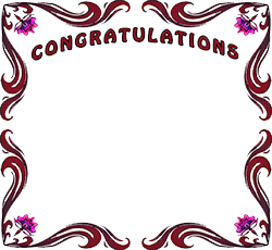 congratulations with flowers - PNG HD Congratulations